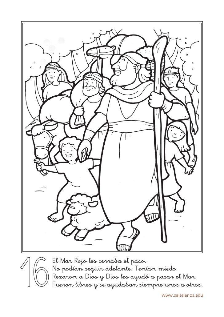 Colorear Historia Salvacion | Bíblicos | Pinterest | Mar roja ...