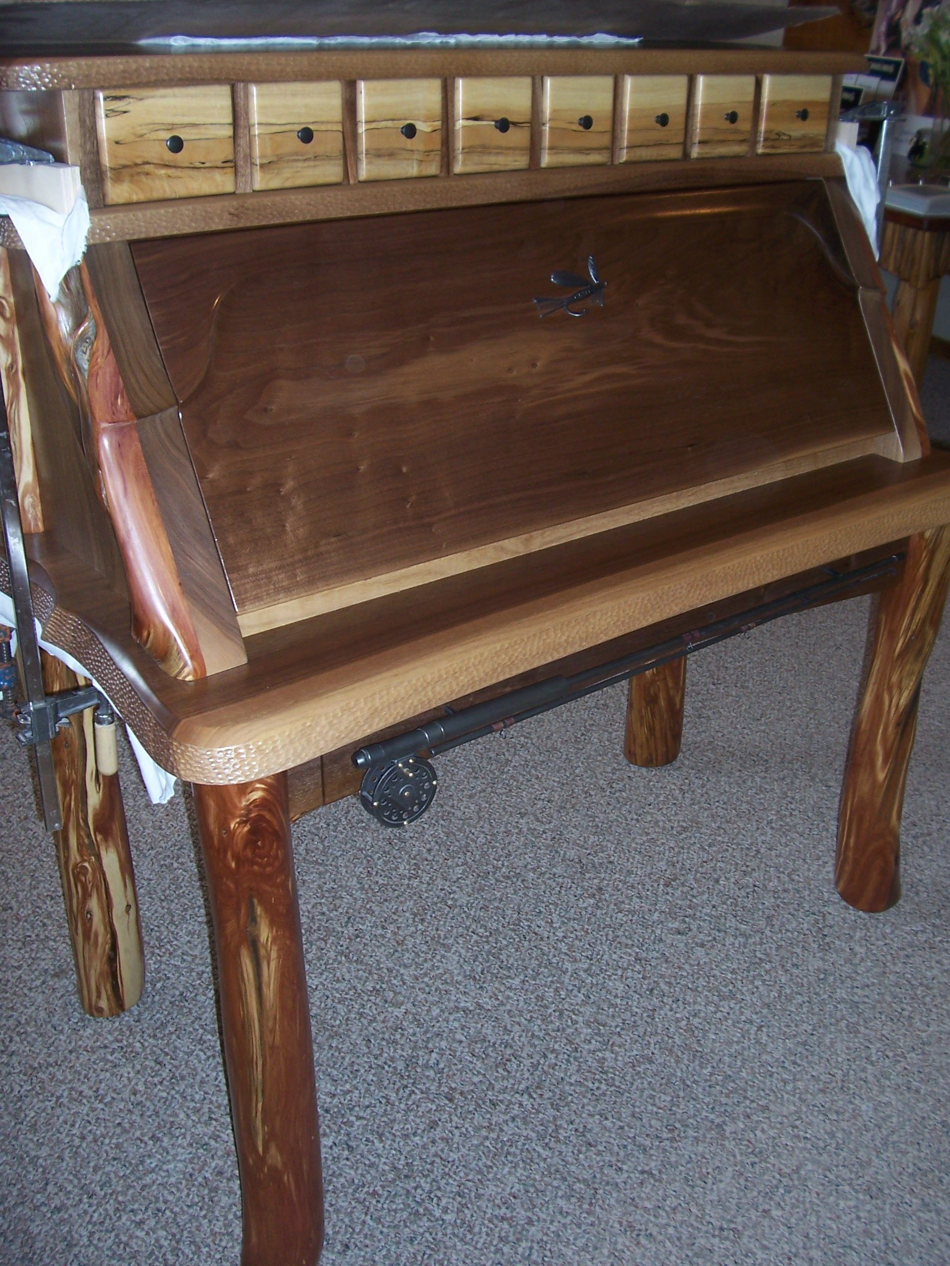 Awesome McMahon Fly Tying Desk Fly Tying Desk, Fly Fishing Gear, Wood Working,  Organizers