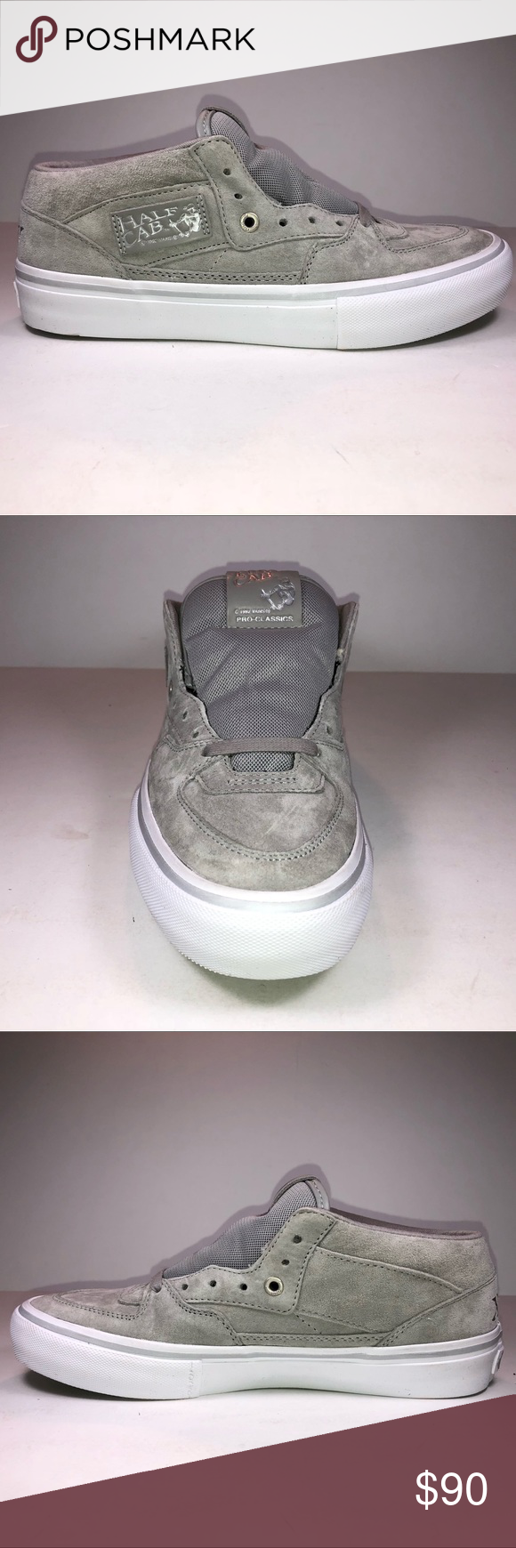 a01fd620532 Vans Half Cab Pro 25th Anniversary Silver Skateboarding Sneakers Steve  Caballero Mens Size VN0A38CPPHD Vans Shoes Sneakers