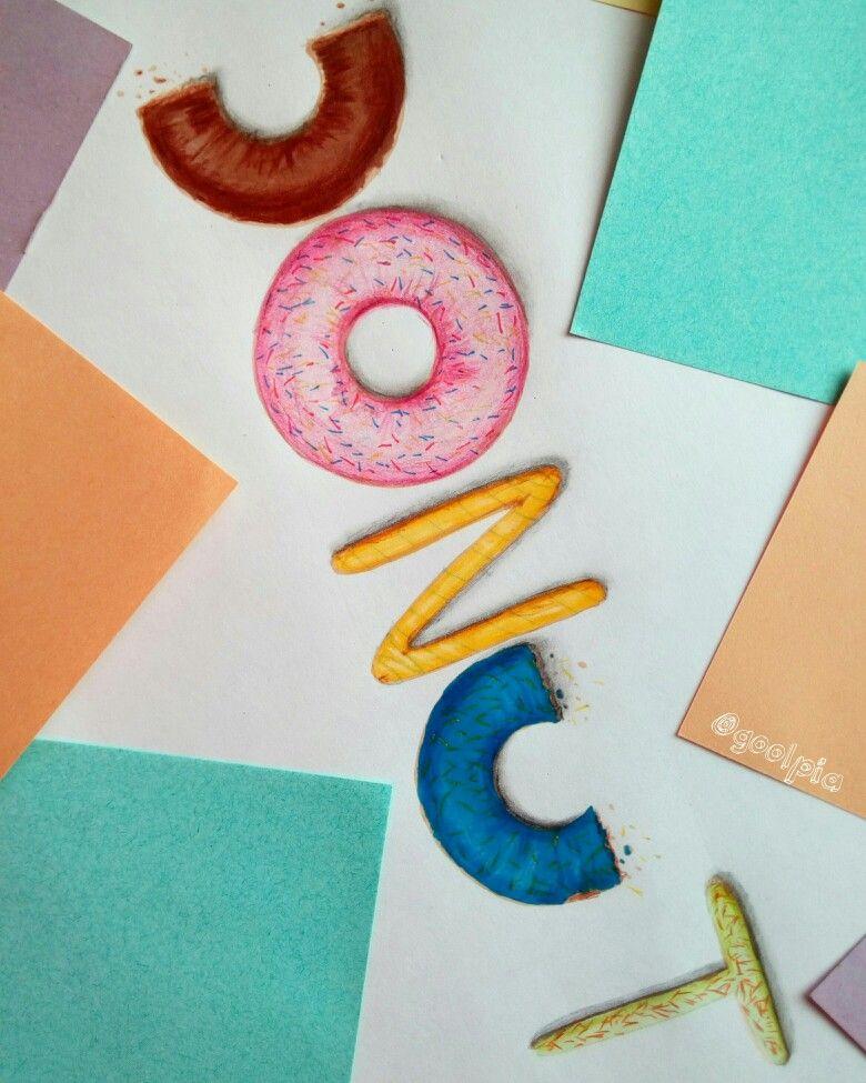 Donut, food, my art, drawing