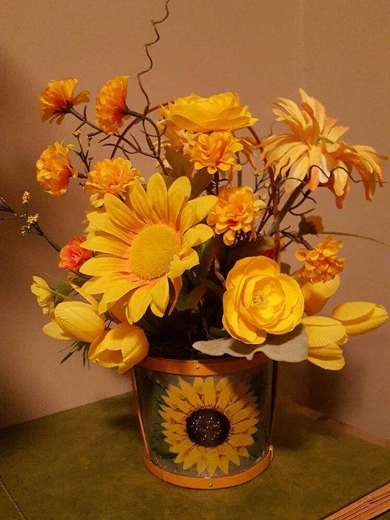 Sunflower Arrangement, Sunflower Flower Arrangement, Yellow Floral ...