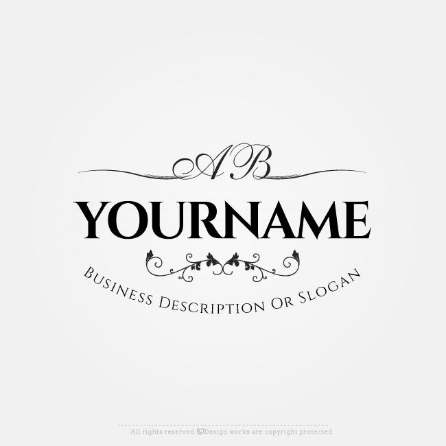 Free Logo Maker - Create Logo Online - Floral Initials Logo Design