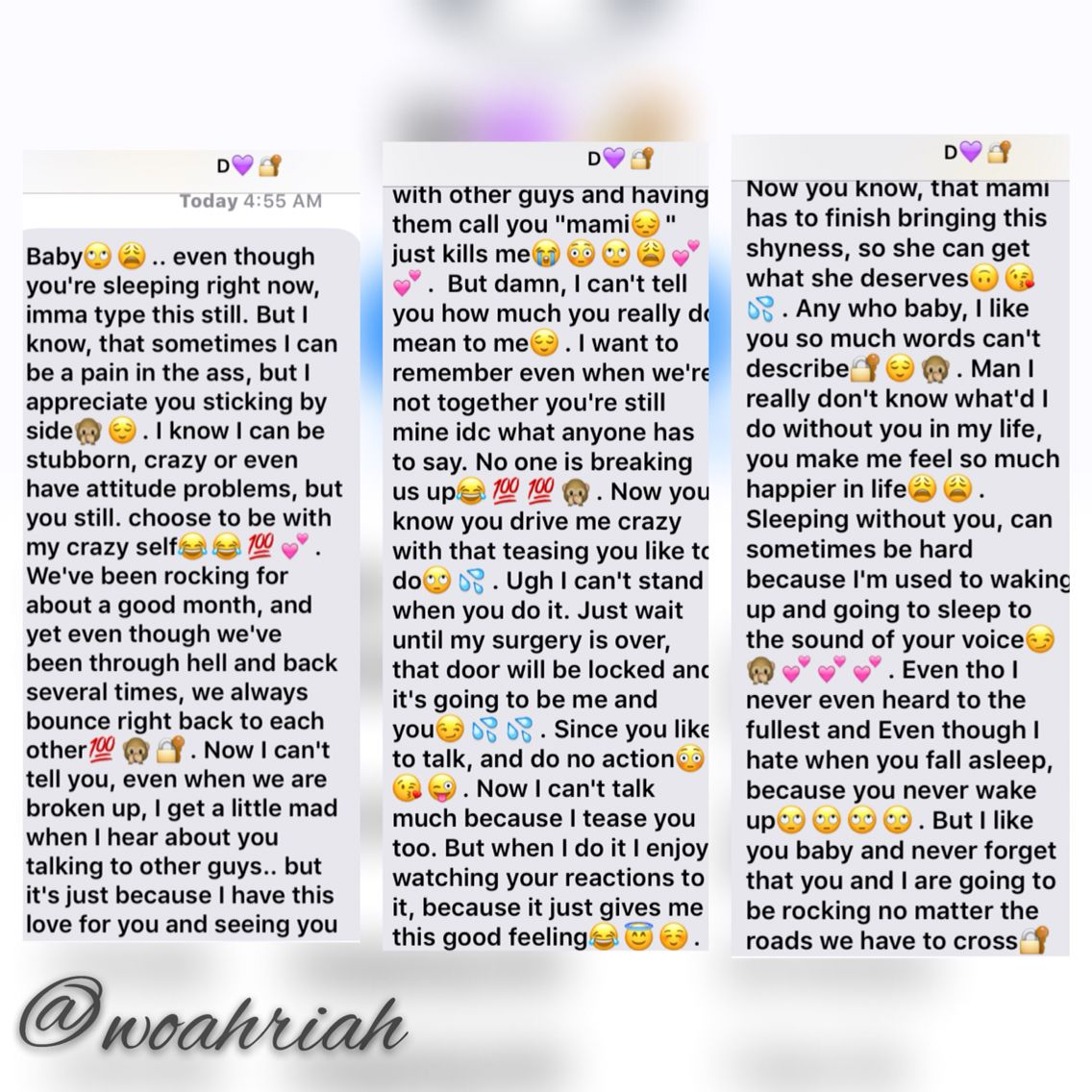 Anele Mdoda Sends Her Boyfriend The Sweetest Birthday: Messages Like This Mean Everything To Me I Swear @woahriah