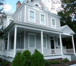 Historic Home with Grey Exterior Paint traditional exterior ...