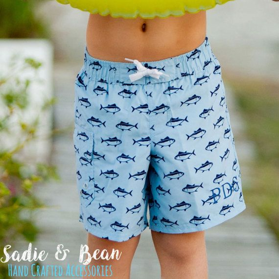 0187cab5d8 Boys Bathing suit, Boys Monogrammed swimsuit, Boys swimwear, Boys  personalized Bathing suit, Toddler swimwear, boys swim shorts, swim trunks  details are ...
