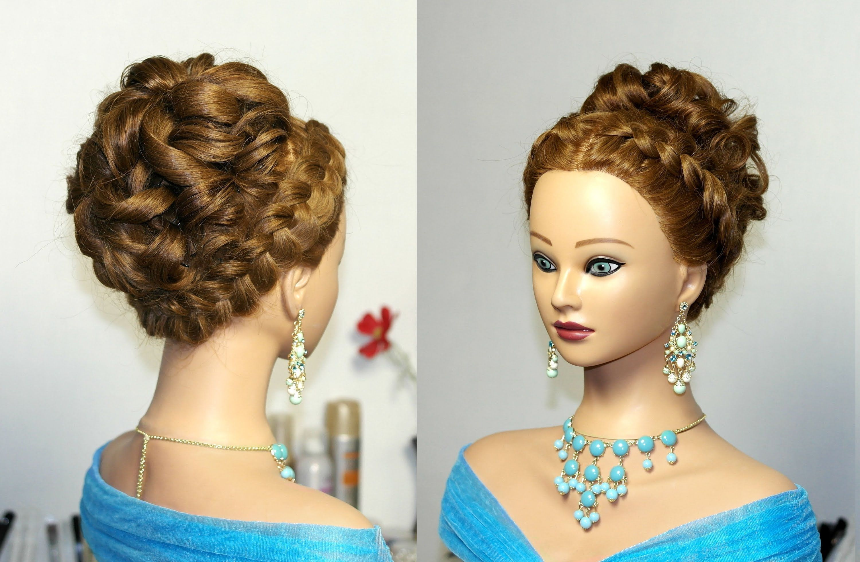 Wedding prom hairstyle for long hair. Updo hairstyles. | Hair ...