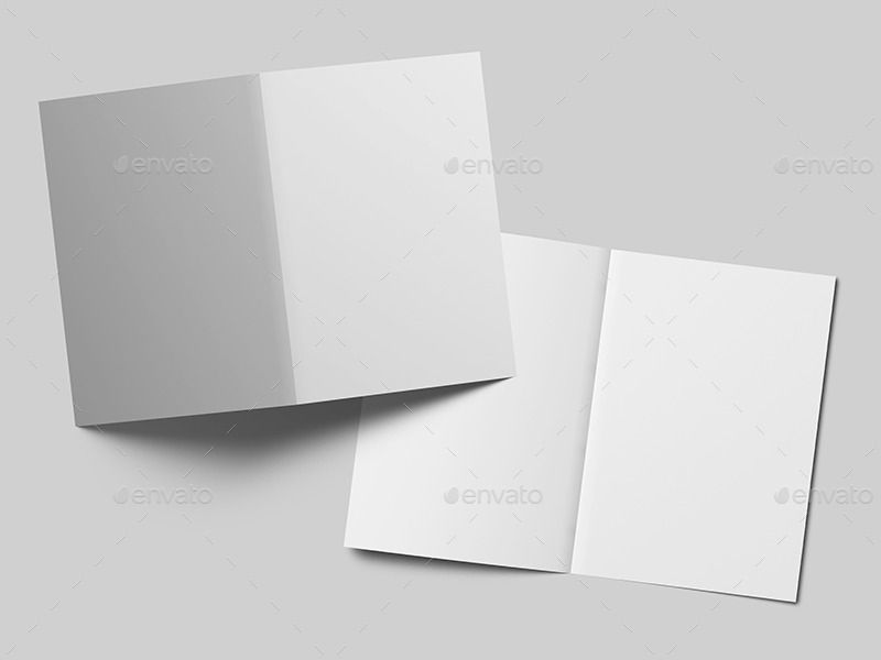 A5 Greeting Card Bi Fold Brochure Mock Up Bi Fold Brochure Brochure Greeting Cards