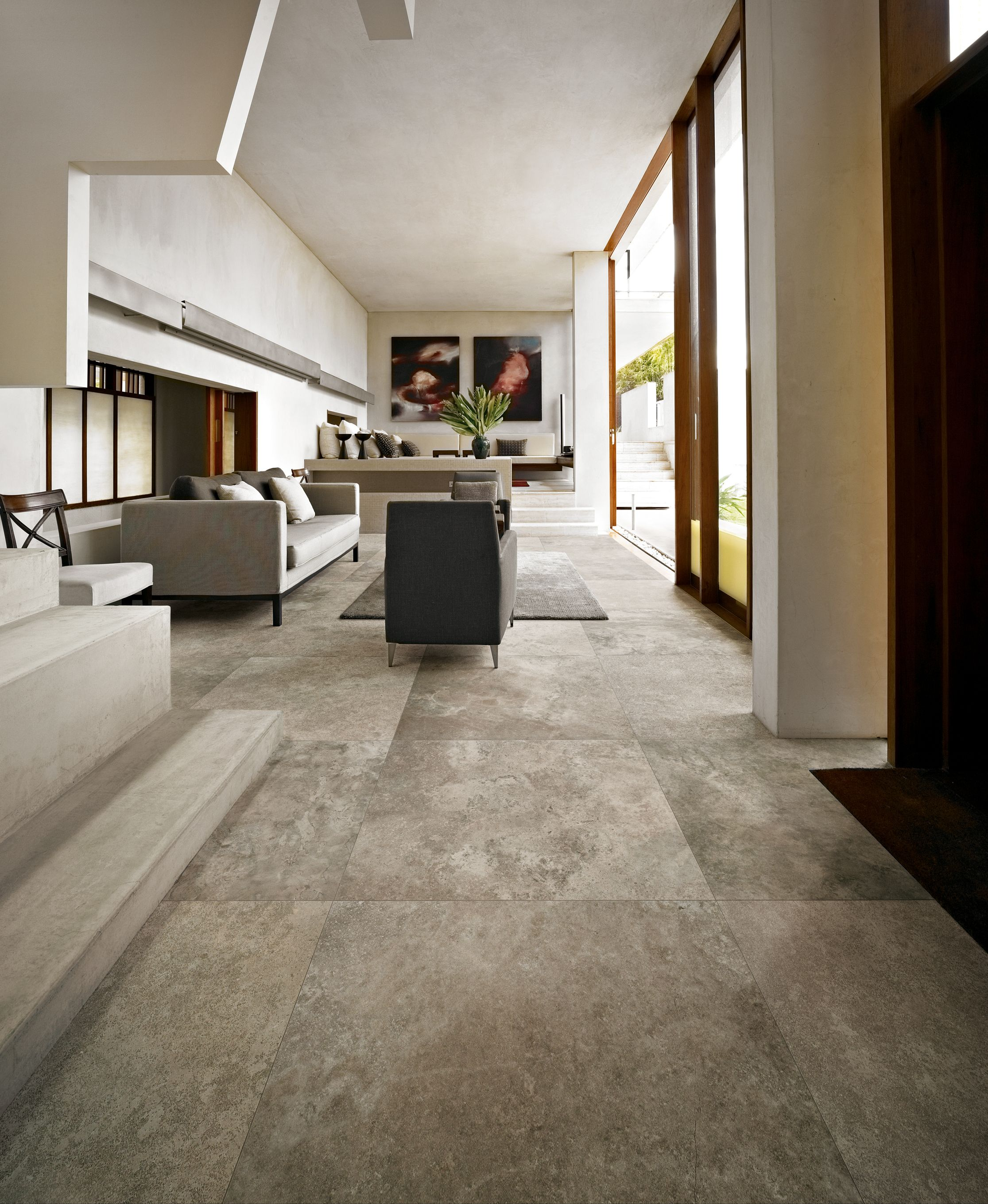 velvet platinum porcelain tiles from italy - large format tiles