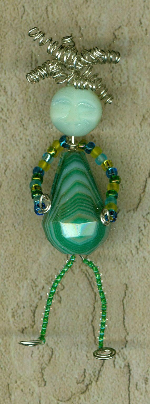 bead doll pin - Bead Buddies A Beading Pattern by StonyCreekBead on Etsy, $10.00