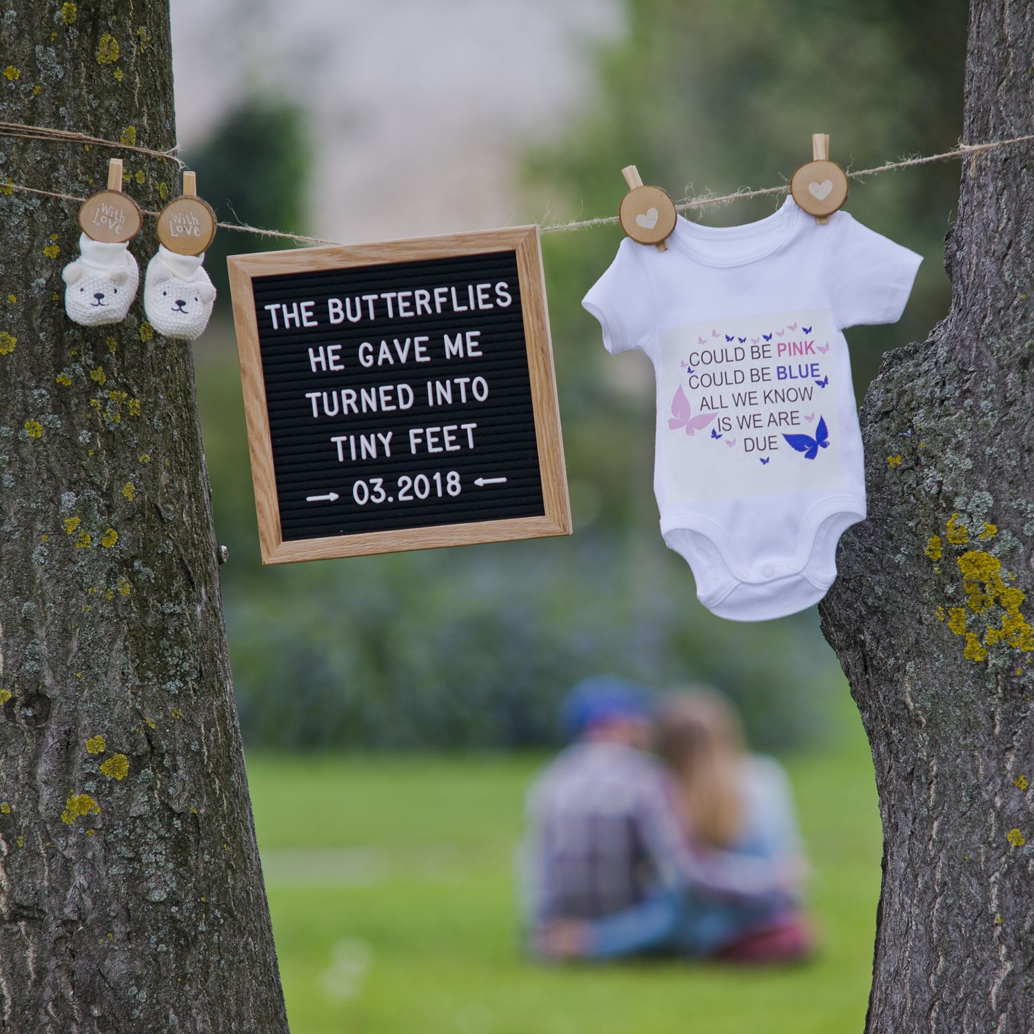 Ideas For Announcement Boards : Cool and creative baby announcement idea using our quot