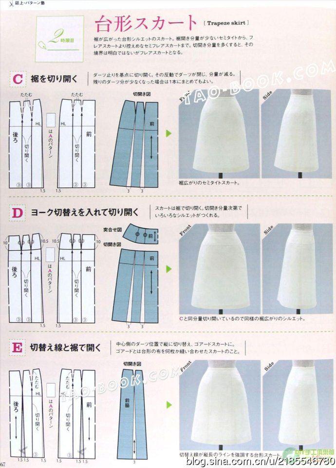 Mod@ en Line@. | Patrones ropa | Pinterest | Costura, Falda y Patrones