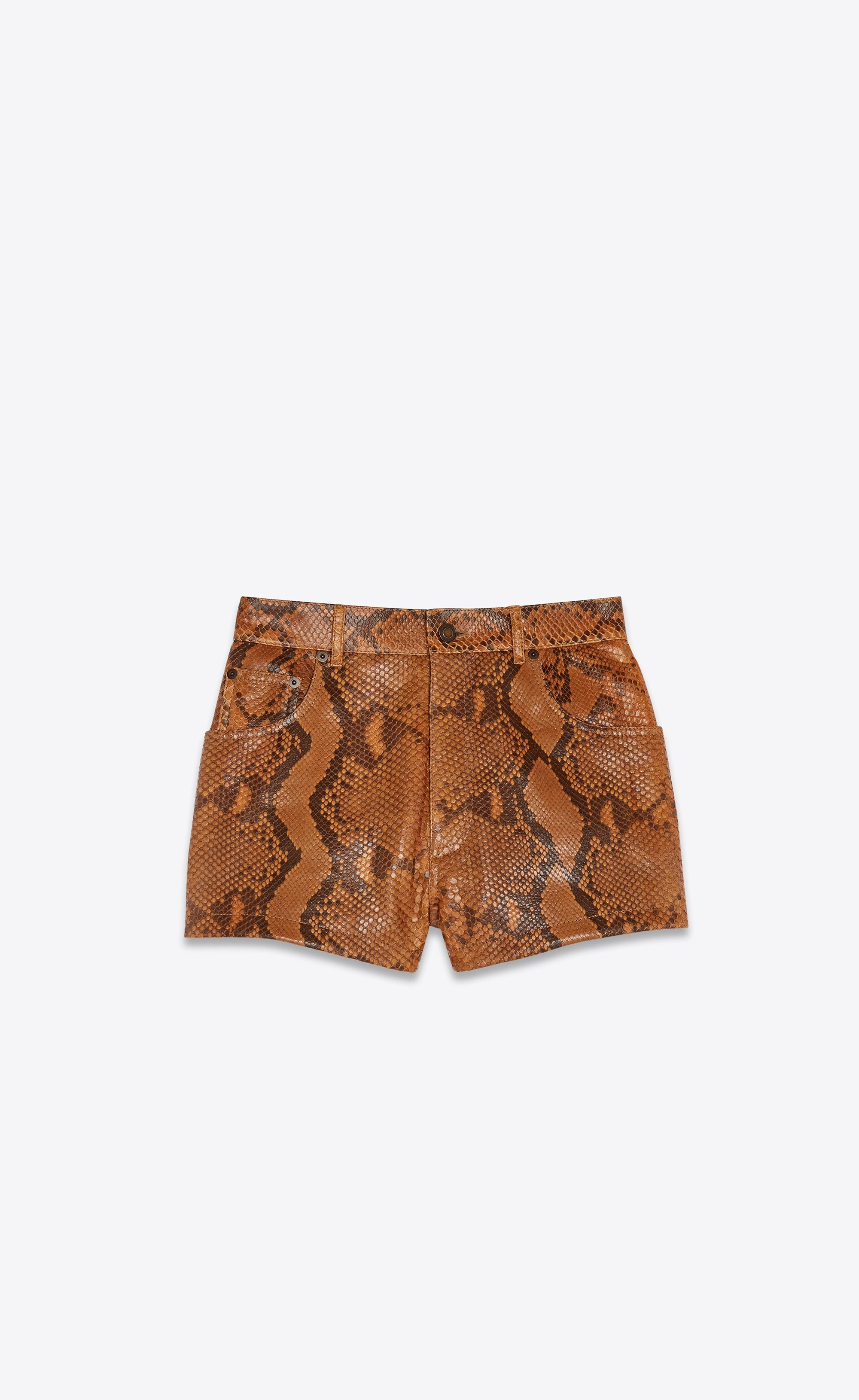 8f489a7d79 Saint Laurent Python Shorts | YSL.com | ysl in 2019 | Shorts ...