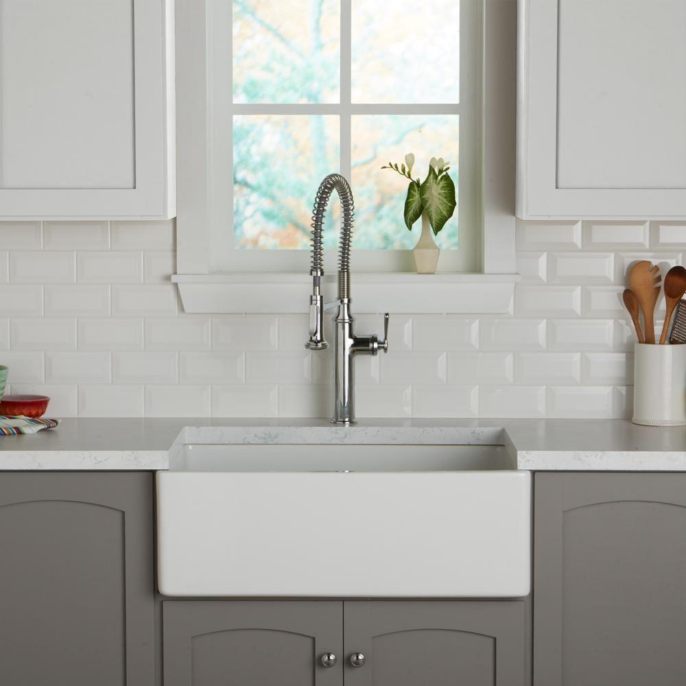 Daltile Restore Bright White 3 In X 6 In Ceramic Bevel