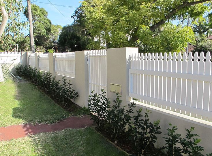 Front Fence Home Exterior Rendered Wall Timber Panel
