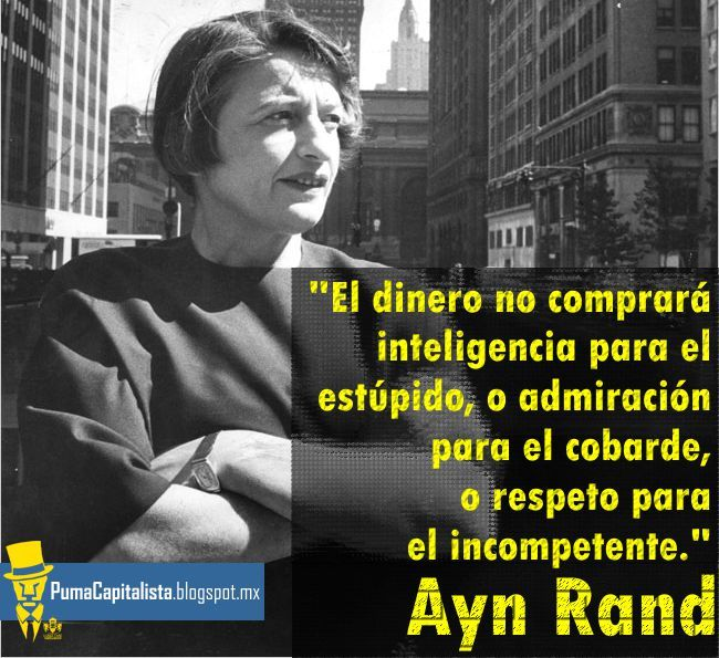 Nebu Distracción Potencial  frases en español | Ayn rand, Ayn rand quotes, Words