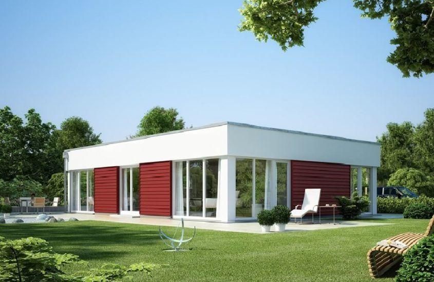 Winkelbungalow Sh 136 Wb Variante A2 Mit Walmdach Scanhaus Marlow Hausbaudirekt Fertighaus Bungalow Bungalow Haus