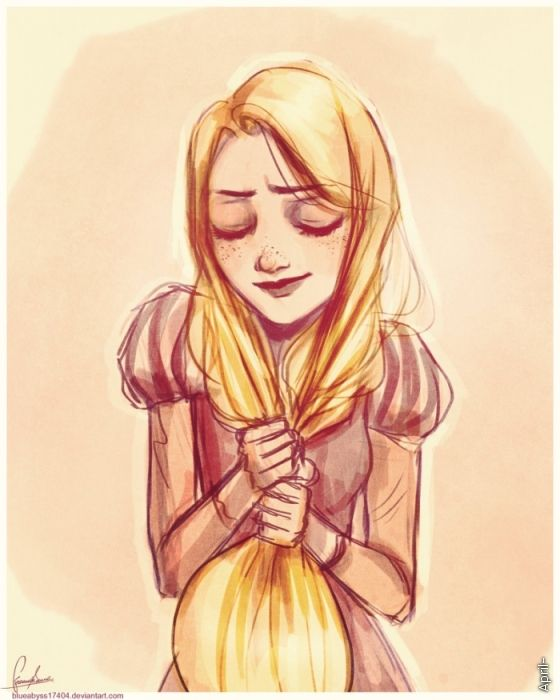 Rapunzel Sketch II by blueabyss17404 (deviantart account deleted)