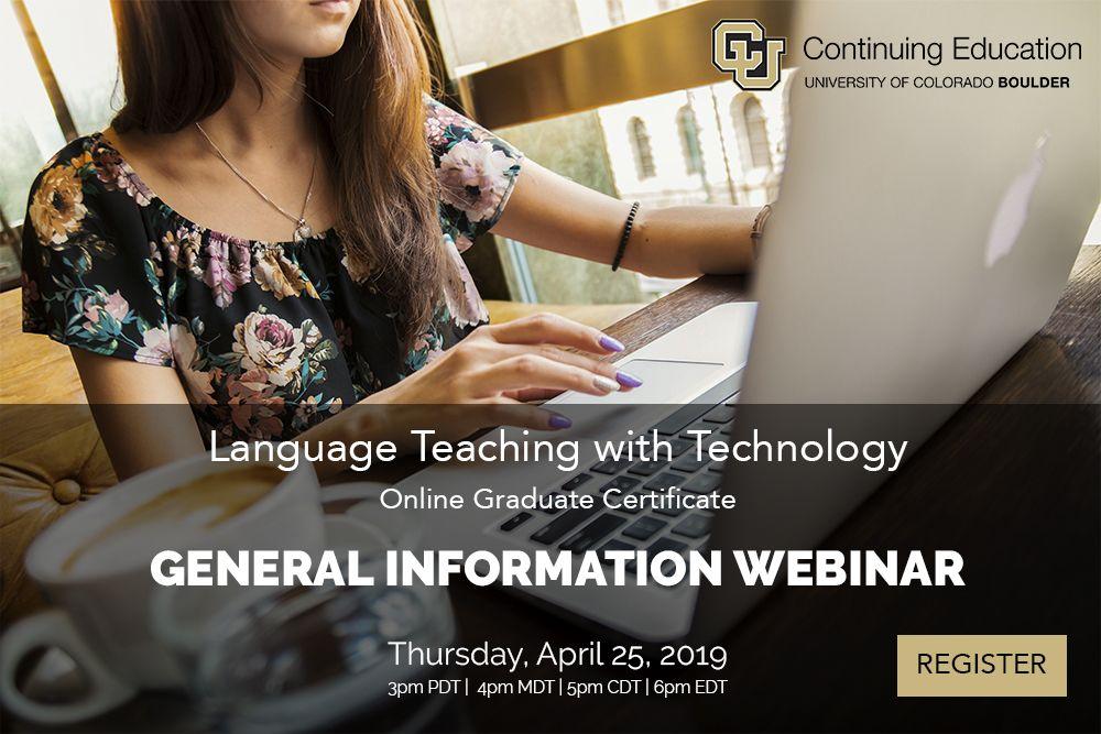 General Information Webinar Summer 2019 Courses Webinar Continuing Education Language Teaching