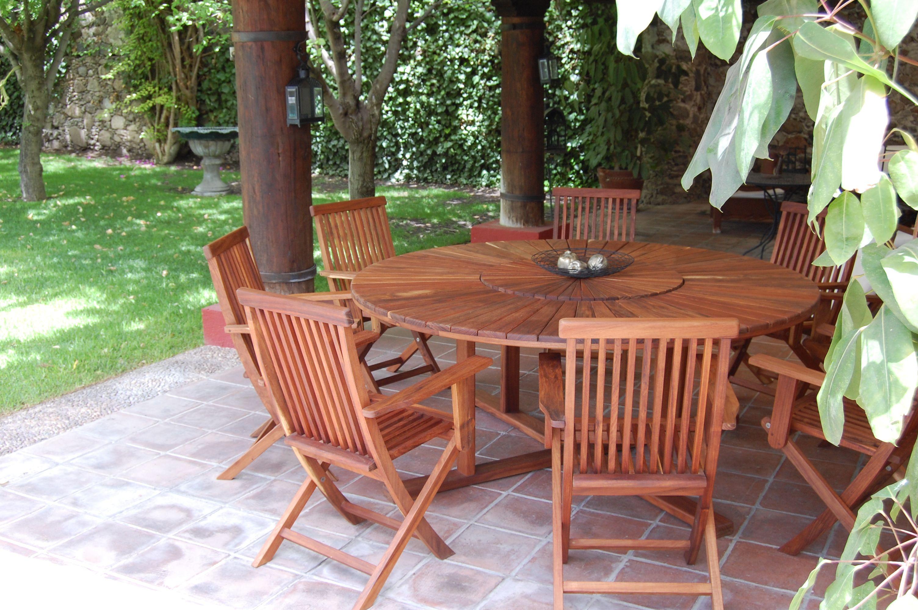 Lazy Susan Dining Set | RESTEN Outdoor Furniture | Pinterest