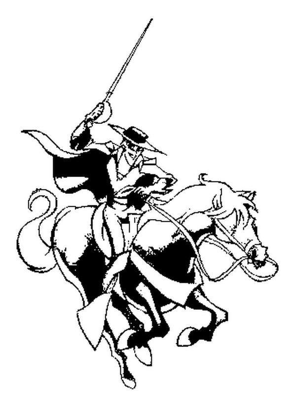 Coloriage Zorro.Paysage Coloriage Zorro 56 Pour Coloriages Magique With Coloriage