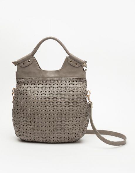 Karina Woven Bag In Stone