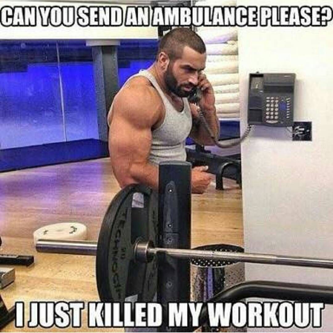 Funny Friday Workout Memes