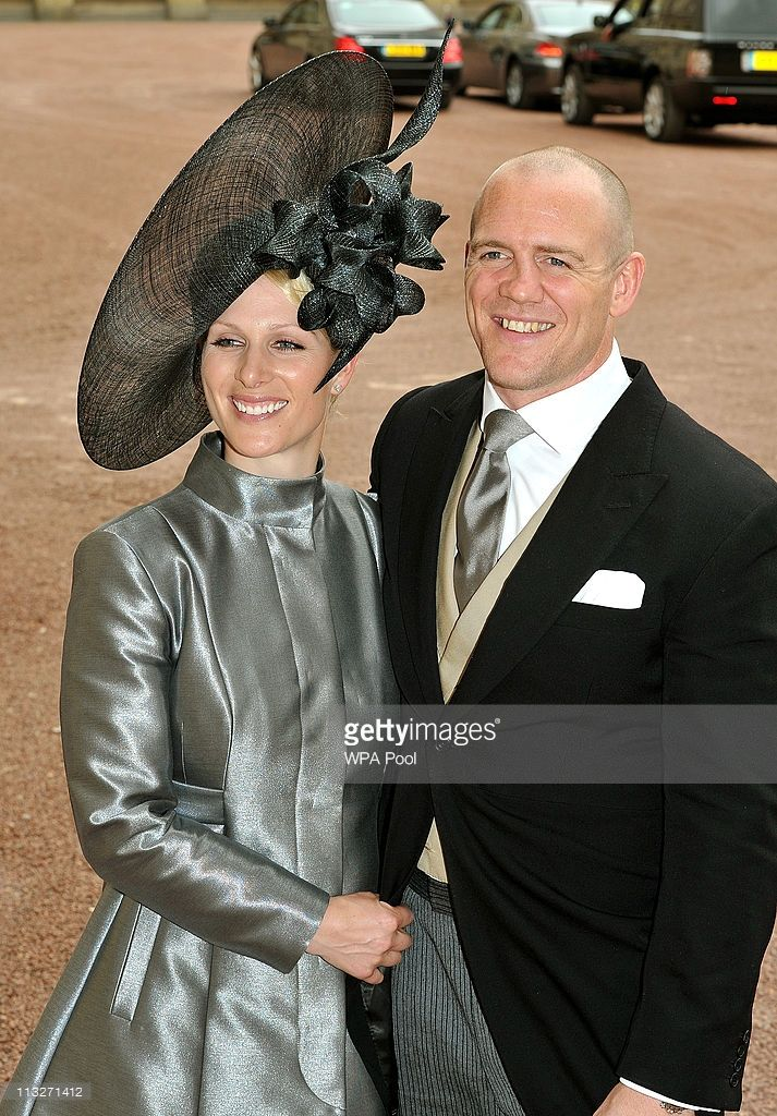 Zara Phillips And Fiance Mike Tindall Leave The Wedding Reception