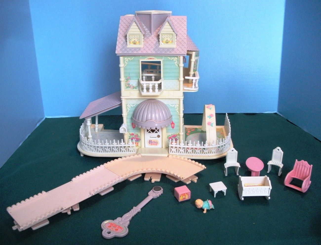 Vintage Fisher Price Precious Places #5161 Baby\'s Nursery Cottage ...