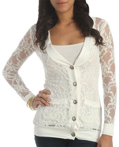 All Over Lace Cardigan - Teen Clothing by Wet Seal