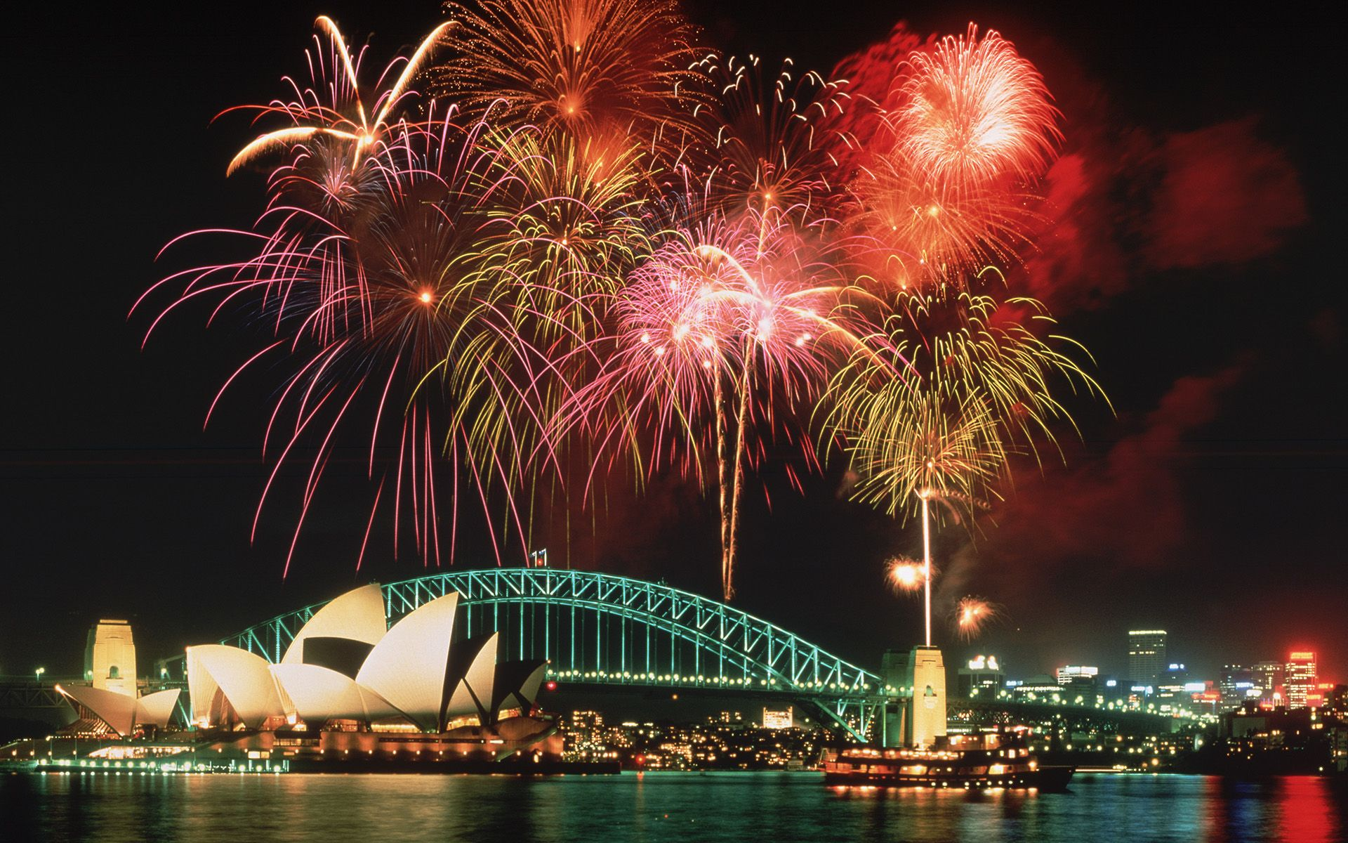 Image detail for Fireworks above the Opera House and