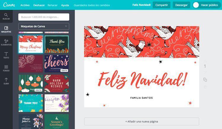 6 aplicaciones y webs para crear felicitaciones de navidad - Disenar tarjetas de navidad ...