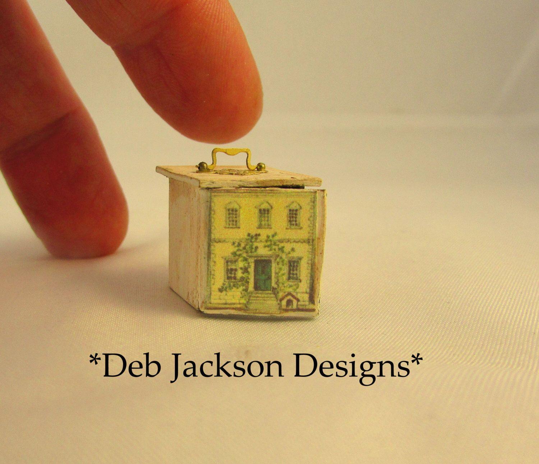 From *DJD*-Lithograph style dollshouse toy,with toys inside. de DebJacksonDesigns en Etsy https://www.etsy.com/mx/listing/267431748/from-djd-lithograph-style-dollshouse