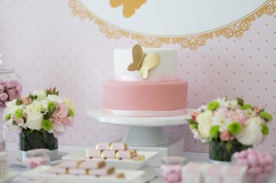 Pink And Gold Butterfly Baby Shower Ideas, Decorations, Pink And Gold Butterfly  Baby Shower Dessert Table Ideas, Favors, Elegant Baby Shower Decorations