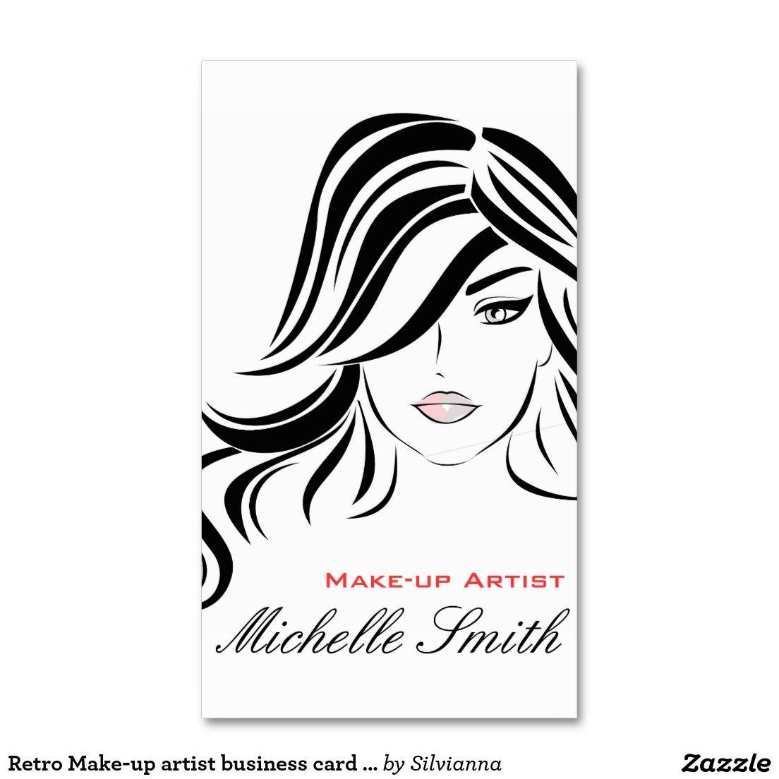 Retro Make-up artist business card design | Hair And Beauty Salon ...