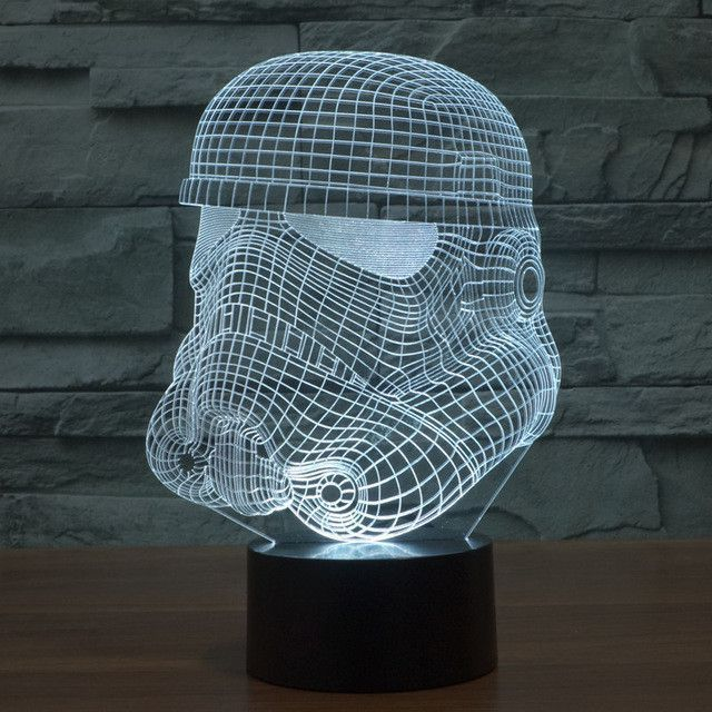 Star Wars Inspired Storm Trooper Helmet 3d Optical Illusion Lamp Star Wars Night Light 3d Led Night Light 3d Led Lamp