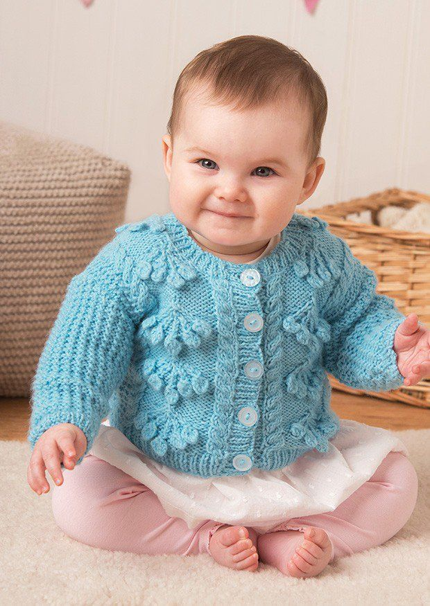 Cardigans in Deramores Baby DK (1017) Digital Version | Deramores Knitting Patterns | Knitting Patterns | Deramores