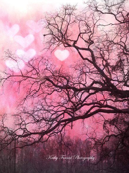 Nature Photography Pink Nature Valentine Hearts Fantasy Nature Trees Love Hearts Romantic Nature Art Pink Nature Tree Pink Nature Nature Photography Nature