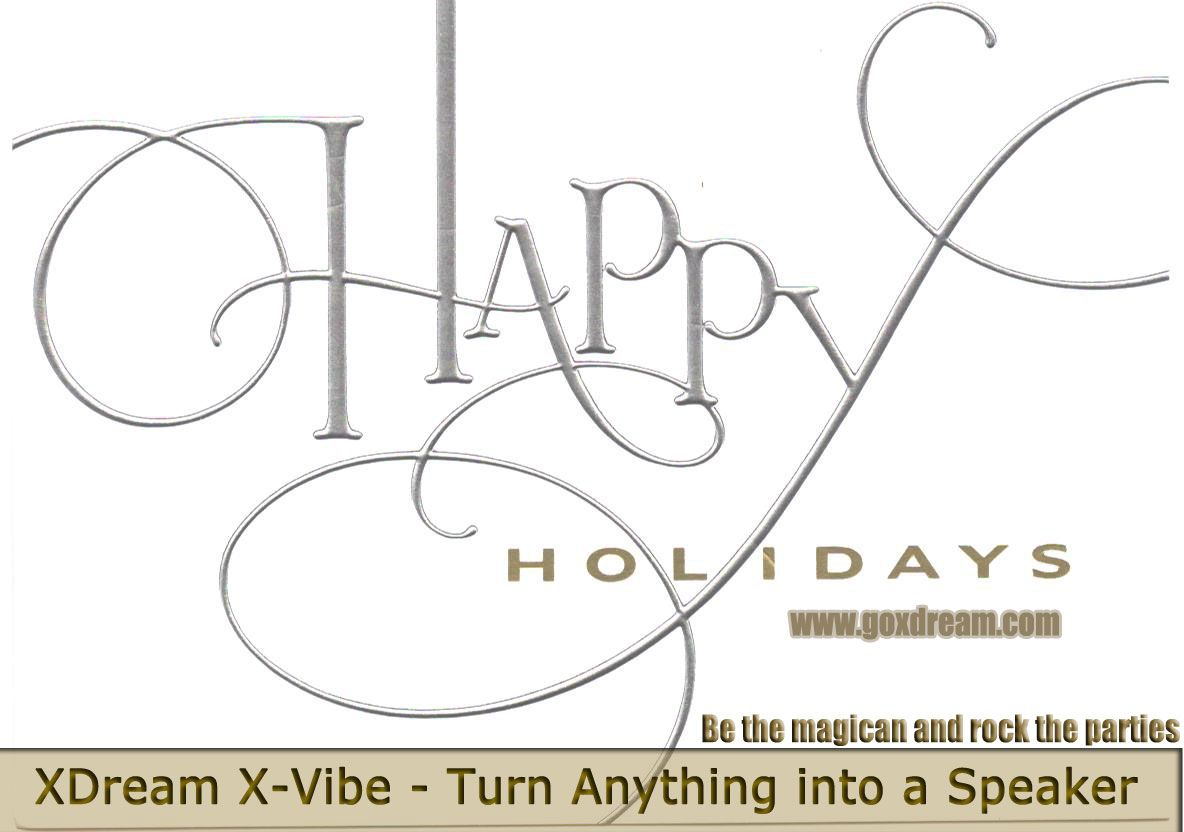 Happy holidays to you and your loved ones from X-Dream - http://goo.gl/cFYmOy  XDREAM X-VIBE 3.0 Portable Mini Vibration Speaker System (Glossy White + Red Cable) - Amazing looking, white unit with UV coating and black unit with rubber coating, perfect touch feel and more durable. Mini size for easy carry. Available on XDream Amazon Store from $29.99