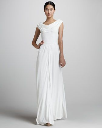 529474c6296 Drape-Neck Gown by Issa London at Neiman Marcus.