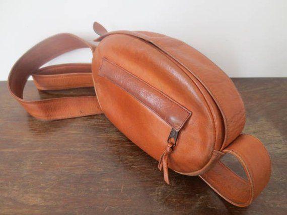 Vintage  70s Genuine Leather Saddle Bag by Sabina Handbags cd3c115071bd3