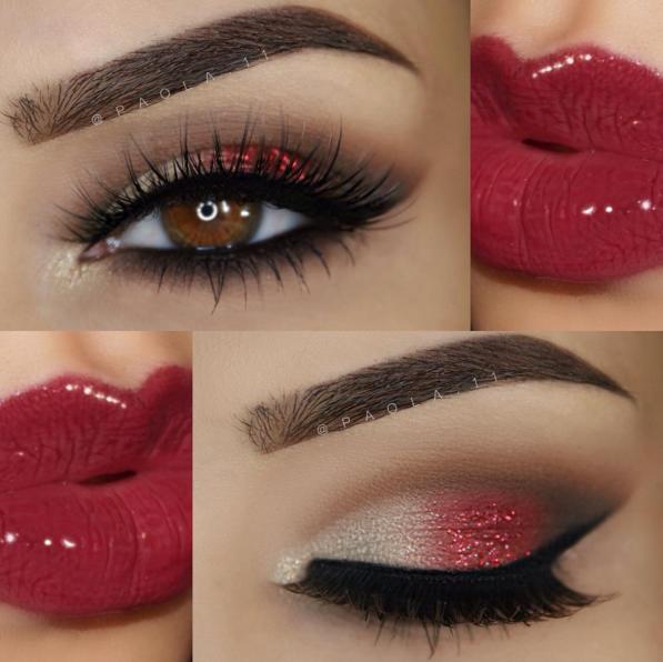 Beautiful Ways to Wear Red Eyeshadow Red eyeshadow, Red