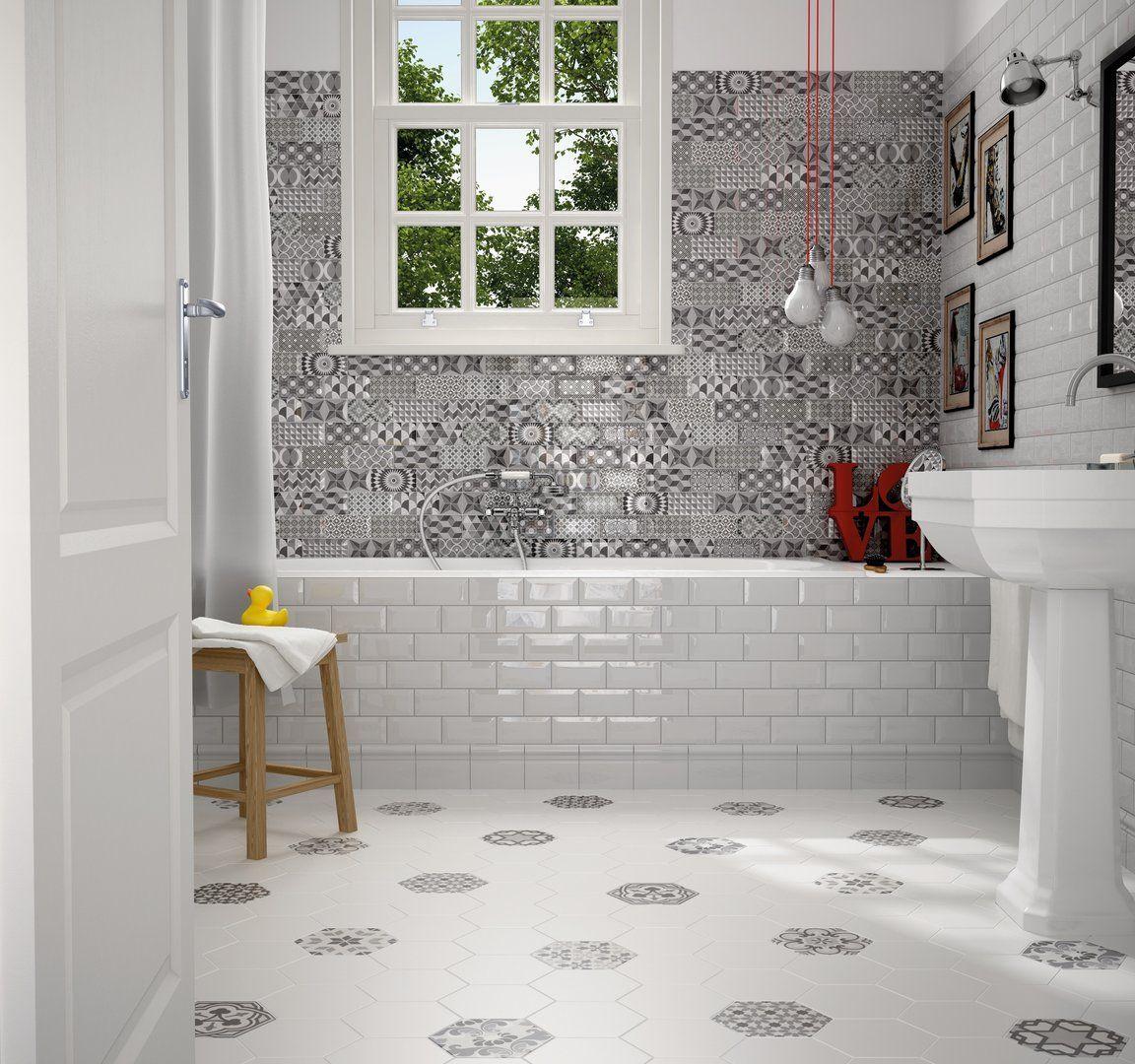 Wandfliese Equipe Metro white glänzend 7,5x15 cm   Designer ...