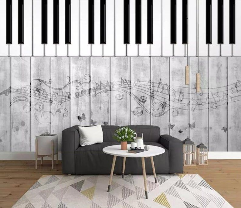 3d Vintage Wood Grain Piano Keys Wallpaper Removable Self Etsy In 2020 Music Bedroom Music Wall Decal Traditional Wallpaper