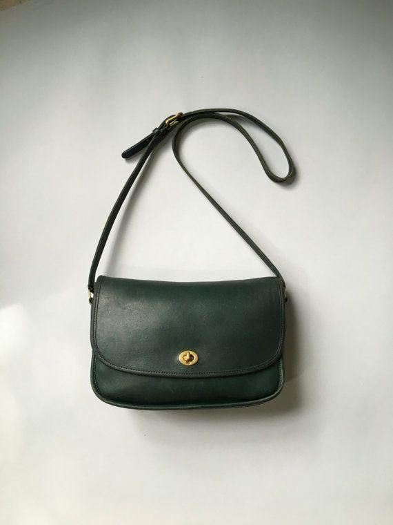 af973d17 Green Coach Bag 9790 / Vintage Coach City Bag / Coach 9790 Coach ...