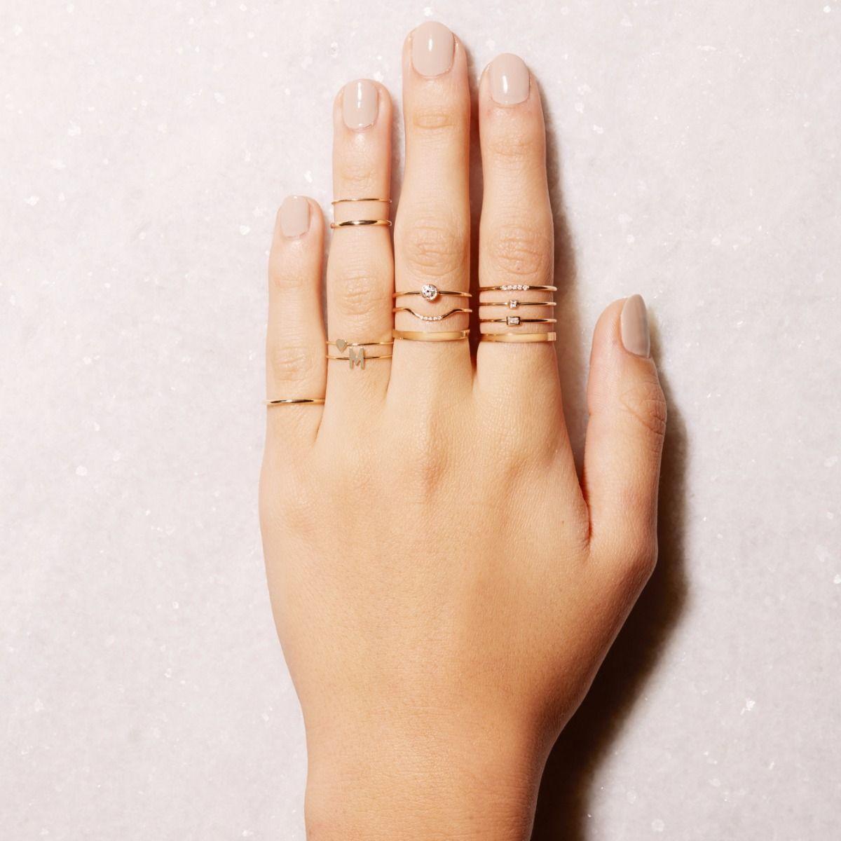 deeda6af040 Small Round Diamond Ring - STONE AND STRAND