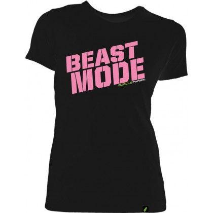 773b3e38 MusclePharm Womens Beast Mode Tee Black | Fitness | Mens tops ...