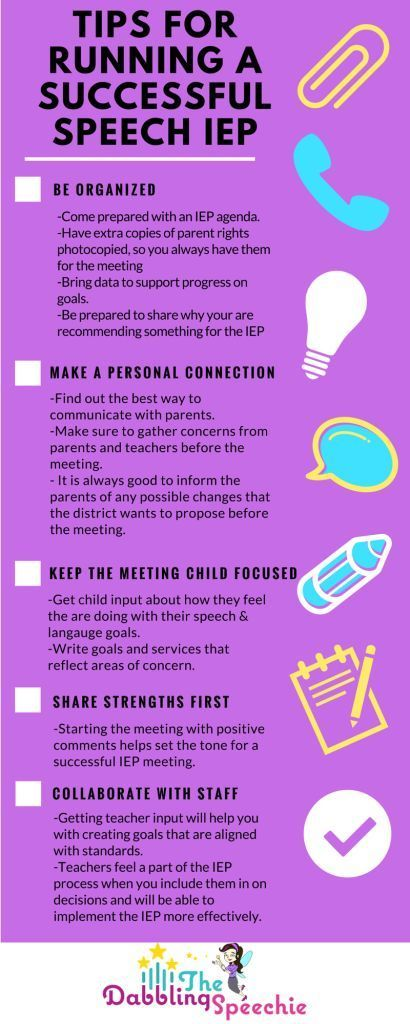 Tips To Run A Successful IEP Meeting For The Busy SLP - how to write agenda for a meeting