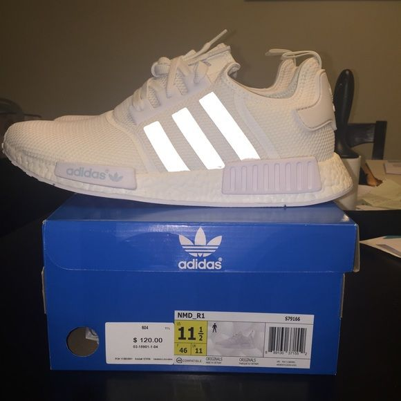 23df3a32a Adidas R1 NMD Boost Monochrome Size 11.5 White Deadstock Adidas NMD Mesh  Men s size 11.5 Adidas Shoes Athletic Shoes