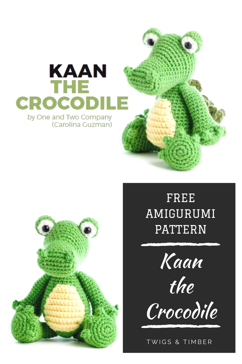 FREE AMIGURUMI – Kaan the Crocodile – Catalog Find   Elefantes ...