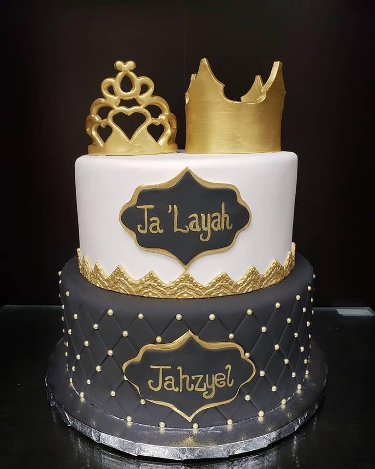 Prince And Princess Twins Birthday Cake With Images Princess